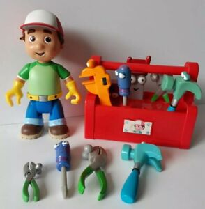 Disney Handy Manny Talking Figure, Singing Toolbox & 10x Tools, Mattel, Rare