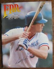 "1983"" Atlanta Braves Scorebook Program"", Dale Murphy Cover, vs. SD Padres"