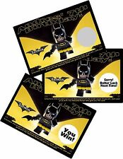 LEGO BATMAN PERSONALIZED SCRATCH OFF OFFS PARTY GAME GAMES CARDS BIRTHDAY FAVORS