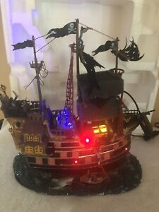 Lemax Spooky Town The Pillager Pirate Ship Halloween Animated Lights And Sound