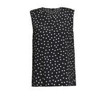 DOLCE AND GABBANA POLKA DOTS SILK TOP