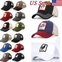 GOORIN BROS TRUCKER Hat Snapback Cap Ajustable ANIMAL FARM Cock Woodpecker lion