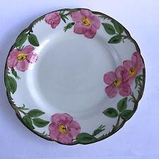 """Franciscan Desert Rose Dinner Plate Black Interpace Big F Backstamp 10-3/4"""""""