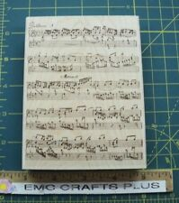 """STAMPABILITIES~COMPOSER""""S DREAM MUSIC SHEET   BACKGROUND  RUBBER STAMP #PR1003"""