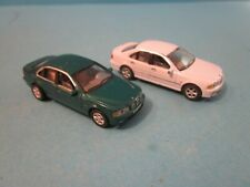 Vintage Hongwell. 2 BMW Saloon Cars. 1 in Green, 1 in White. Play Worn condition
