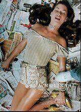 1995 ANNA MOLINARI Blumarine  : CARRE OTIS ' pretty legs Magazine Print  Ad