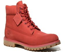 Timberland Men's 6 Inch Red Premium Leather Waterproof Boots Style A1149
