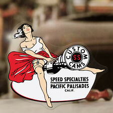 Speed Specialties sticker decal hot rod pin up pinup girl retro vintage 4.25""
