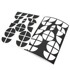 Emblem Ecken matt schwarz + weiß für BMW M1 F20 F21 E81 E82 E87 E88 F22 M Paket