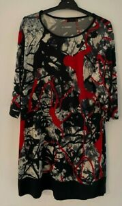 Ladies size 12 FILO patterned  3/4 sleeve TUNIC Dress *great*