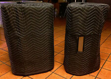 TURBOSOUND MILAN M15 Custom Premium Padded Black Covers (2) Qty of 1=1 Pair!