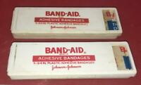 VINTAGE LOT (2) BAND-AID BANDAGES  DISPENSERS ADVERTISING PROMO FIRST AID USA