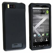Silicone Skin Case for Droid X MB810 - Black