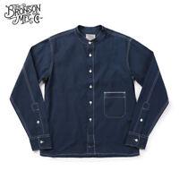 Bronson Vintage Linen Work Shirts 1860s Wabash Selvage Pocket Workshirt For Men