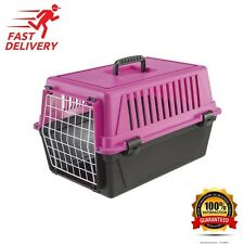 Pet Cat Puppy Carrier Travel Cage Crate Portable 19 Inch Small Dog Kennel Pink -