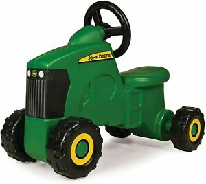 Tomy John Deere Sit-N-Scoot Tractor Toy, Green, One Size Sit and Scoot Tractor