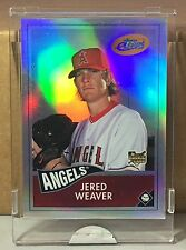 2006 ETOPPS IN HAND JERED WEAVER LOS ANGELES ANGELS ROOKIE CARD /999