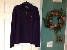 Men's Polo RALPH LAUREN Pullover Purple Size Medium