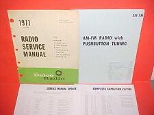 1971 CAMARO Z28 CORVETTE EL CAMINO FIREBIRD GTO DELCO AM-FM RADIO SERVICE MANUAL
