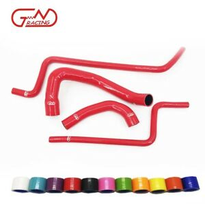 Fit Jeep 1997-2006 Wrangler TJ 4.0L Silicone Radiator Heater Water Hoses Kit Red