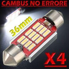 4 LAMPADINA LED SILURO C5W 36 mm CANBUS NO ERRORE 12 LED SMD 4014 INTERNO POSTA1