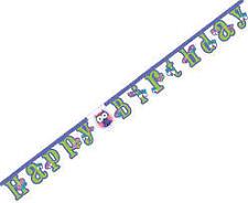 295624 GHIRLANDA FESTONE HAPPY BIRTHDAY COMPLEANNO BAMBINI ADULTI FANTASIA GUFO