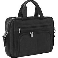 """Kenneth Cole Reaction Black Colombian Leather Laptop case Padded fits 15.6"""""""