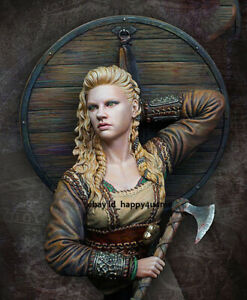 1/10 Unassembled Viking Woman Chiefe Bust Model Kits Unpainted Garage Kits Resin