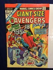 Giant-Size Avengers #3 VGFN (Feb 1975, Marvel) Time Travel  Thor Iron Man Vision