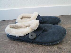 Minnetonka Women's Blue Leather Moccasin Size 10 Slippers