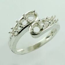 Semi Mount Exotic Sterling Silver Ring 3.50 MM Woman Event Brilliant Top Jewelry