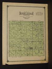 Minnesota Redwood County Map New Avon Township 1914 W3#66