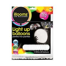 LIGHT UP BALLOONS BY ILLOOM 15 PACK IN WHITE