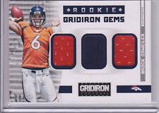 2012 Gridiron Gems RC Triple Jersey Brock Osweiler # 61/199 Denver Broncos