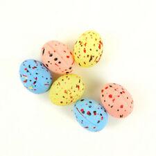 """6 Pc Speckled Pastel Bird Eggs Centerpiece wreath 3/4"""" Nest New In Pkg"""