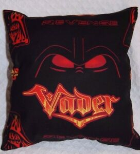 NEW HANDMADE STAR WARS  DARTH VADER BLACK & RED TRAVEL/ CUDDLE  PILLOW