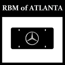 Genuine Mercedes Benz Star Black Marque Plate