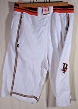 Phat Farm Men's Sz LARGE L 100% Cotton Shorts CREAM ORANGE BROWN TIE STRING NWOT