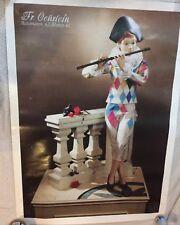 "Rare Automaton Exhibition Poster Fr. Oehrlein Automaten 36 x 26"" Animated Figure"