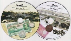 CD Catalogues 20 discs MAVIN INTERNATIONAL-Singapore Coin + Banknote + Postcard