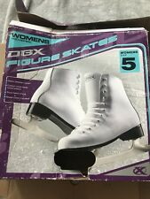 Brand New, DBX Womens Figure Skates, Size 5, WITH BLADE COVER!