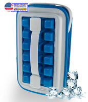 32 Cube Ice Silicone Making Tray Icebreaker Pop Space Saving Silicone Ice Cube