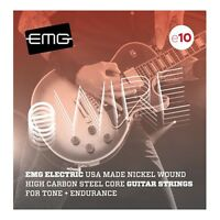 EMG E10 Electric Guitar Strings, Nickel Wound, High Carbon Steel Core (10-46)