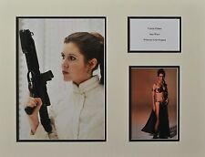CARRIE FISHER PRINCESS LEI ORGANA STAR WARS RARE MOUNTED PHOTO