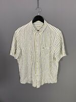 LACOSTE Short Sleeve Shirt - XXL - Striped - Great Condition - Men's