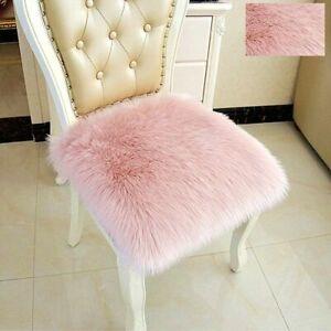 Fluffy Shaggy Area Rug Wool Faux Sheepskin Floor Car Chair Soft Pad Cushion Mat