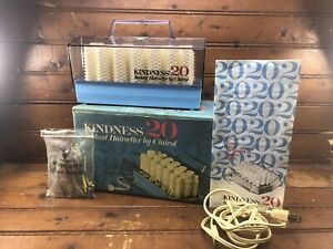 Clairol Kindness 20 Model 761 Hair Setter Hot Rollers Curlers +Clips 1968 Tested