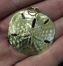 James Avery 14K Yellow Gold Large Sand Dollar Pendant