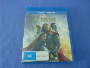 Thor The Dark World Blu-ray Chris Hemsworth Natalie Portman Free Postage