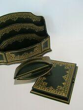 Nécessaire de bureau cuir design Vintage porte courrier bloc note tampon buvard